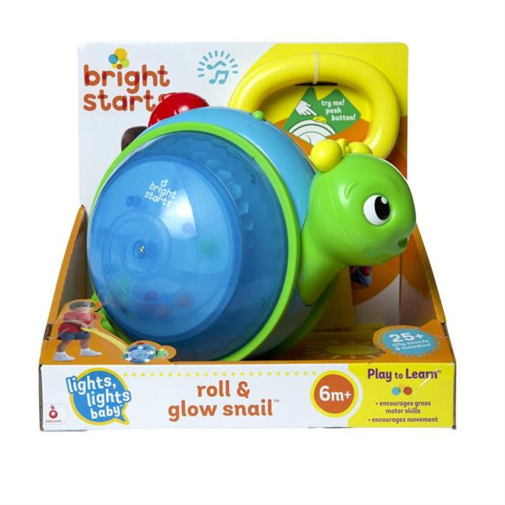 Bright Starts - Jucarie 2 in 1 Roll & Glow Snail