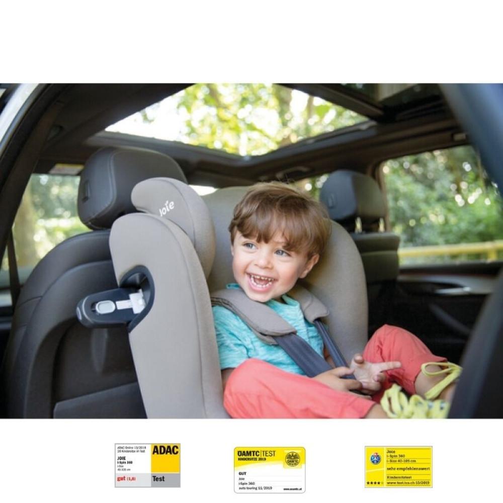 Joie - Scaun auto I-Spin 360° Gray Flannel, nastere-105 cm