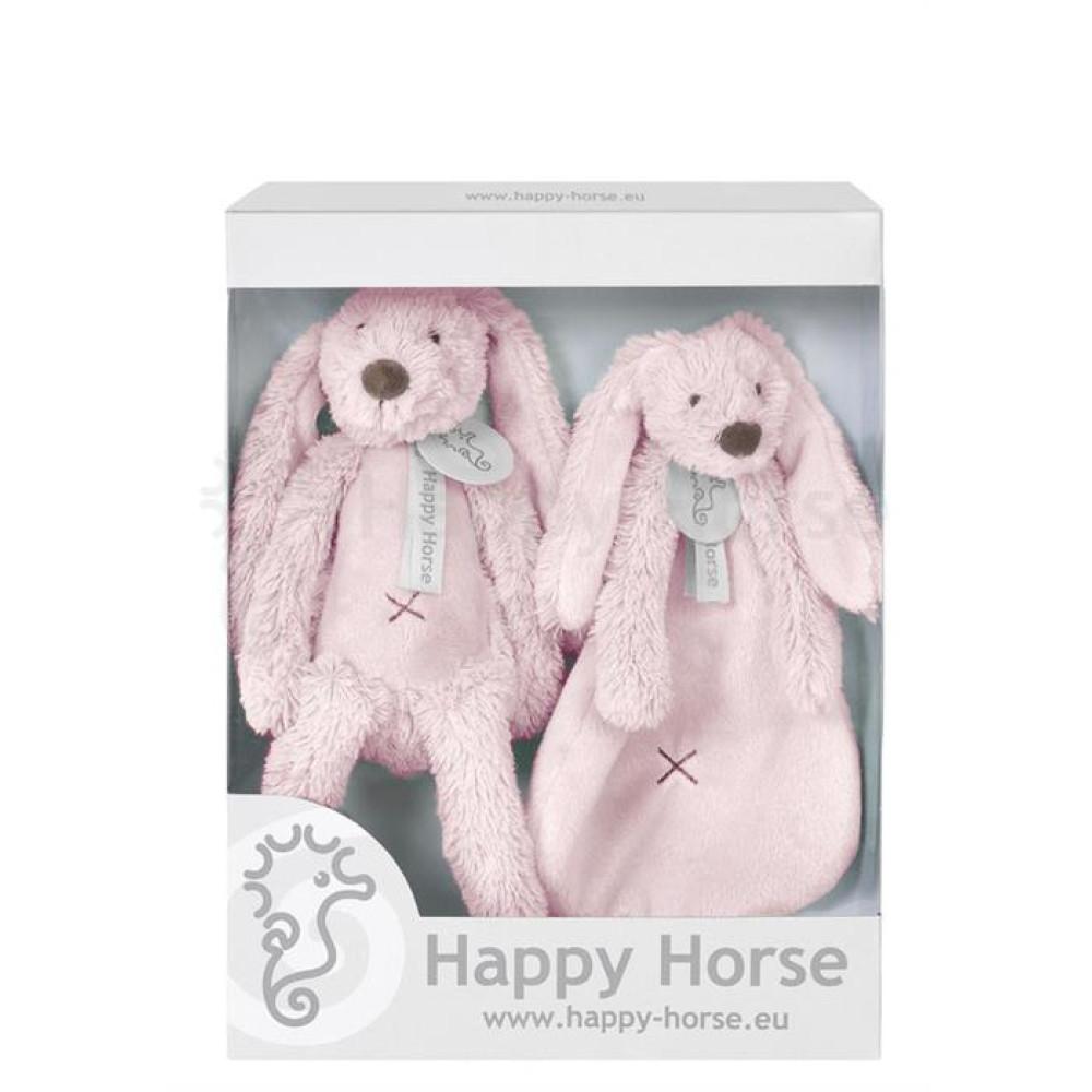 Happy Horse - Set cadou Jucarii de plus Iepurasul Richie Pink
