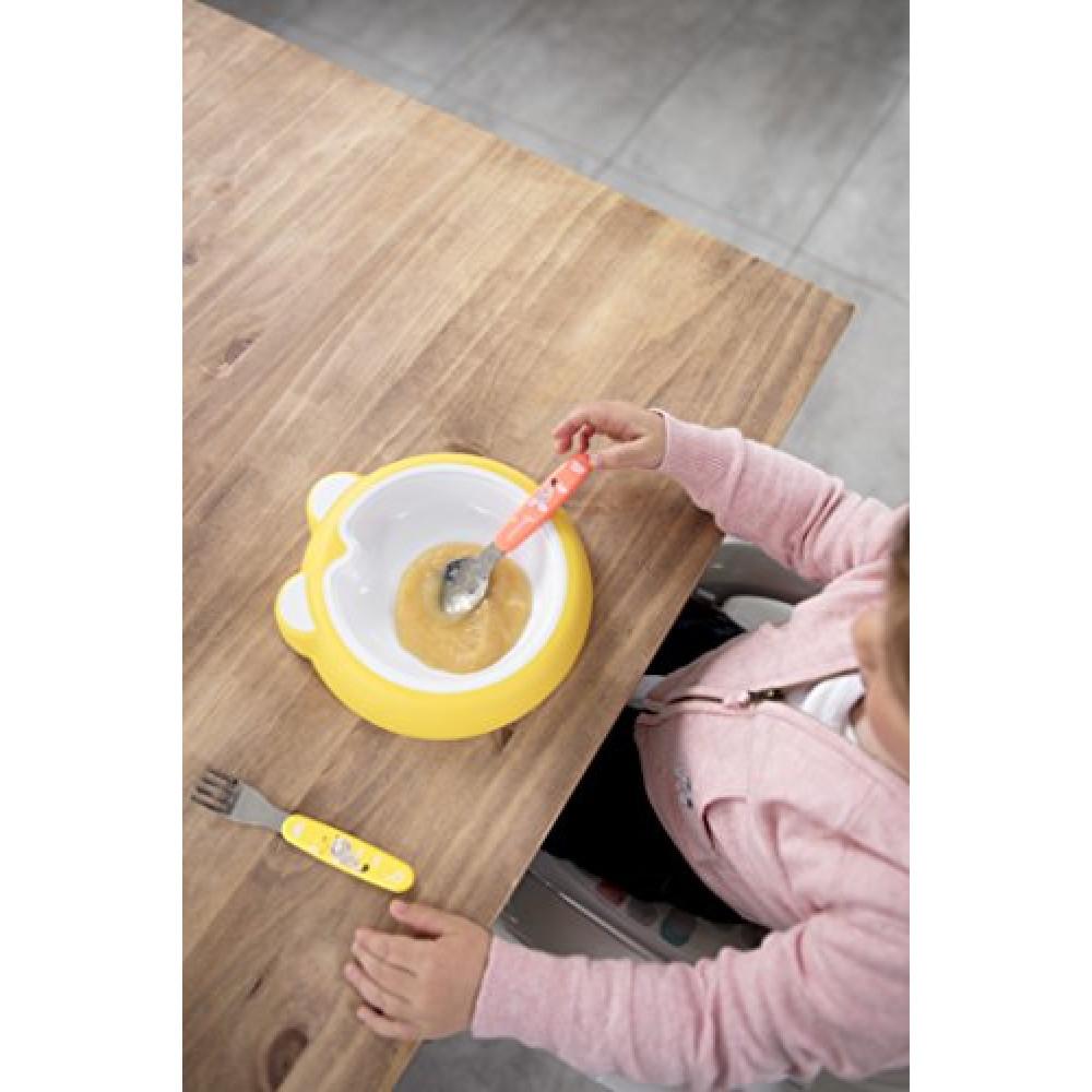 Badabulle – Set lingura si furculita de Inox Pink