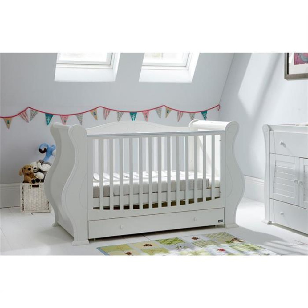 Tutti Bambini – Set patut Louis Alb + salteluta pentru bebelusi