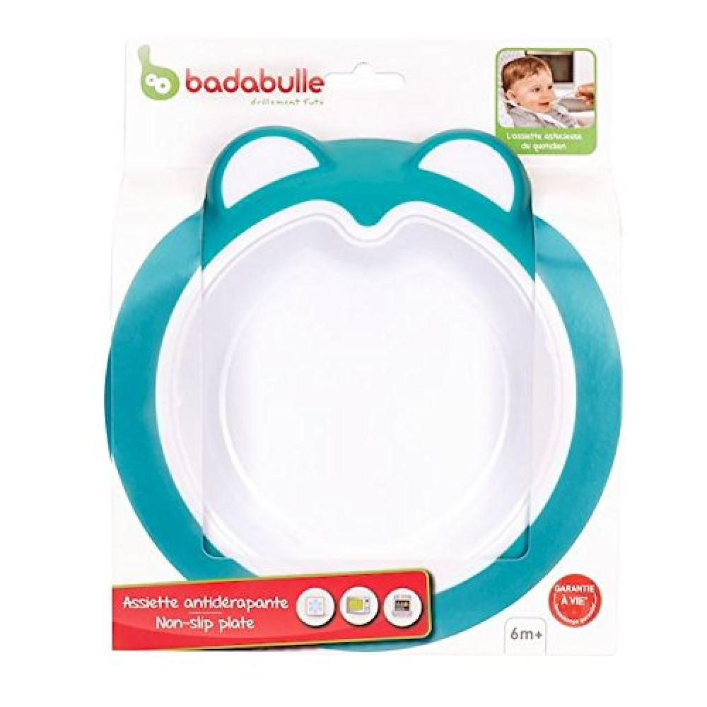 Badabulle – Farfurie anti-alunecare Ice Blue