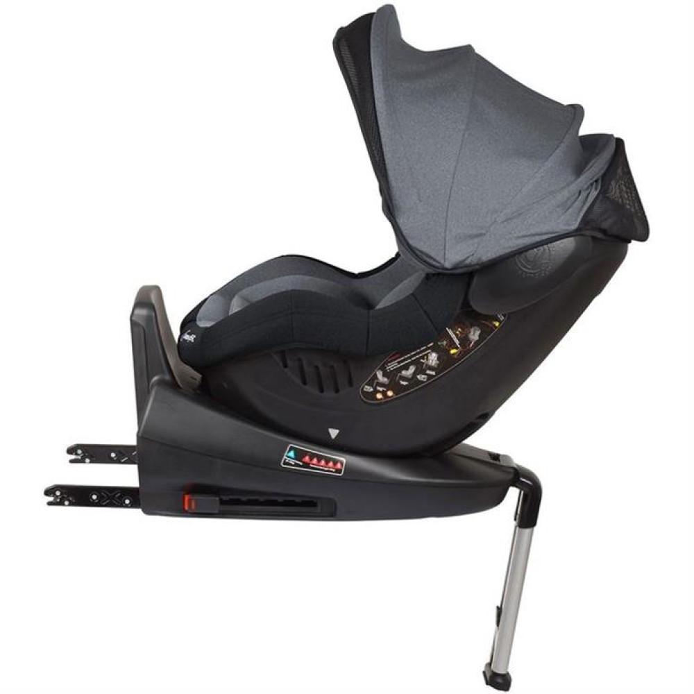 BabyGo – Scaun auto ISO Rotativ 360° - Gri