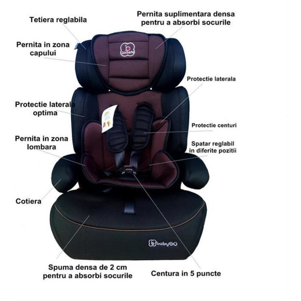 BabyGo - Scaun Auto Freemove Brown