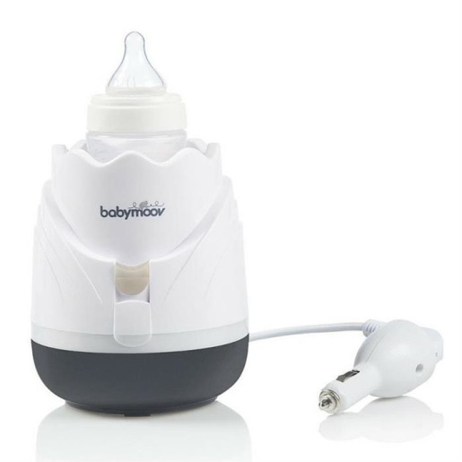 Babymoov –Incalzitor de biberoane (recipiente) pentru casa si masina Tulip Cream