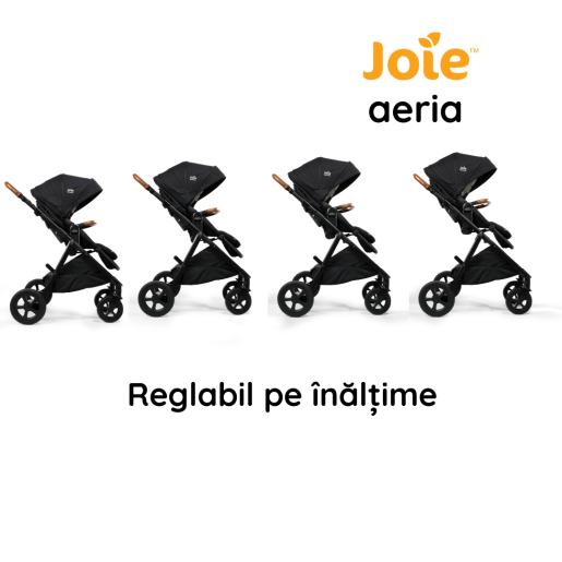 Joie - Carucior multifunctional 2 in 1, reglabil pe inaltime, Aeria Signature Oyster