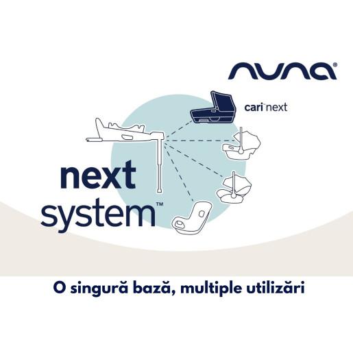 Nuna - Set Landou CARI next Granite, 40-70 cm + Baza isofix BASE next i-Size pentru CARI next