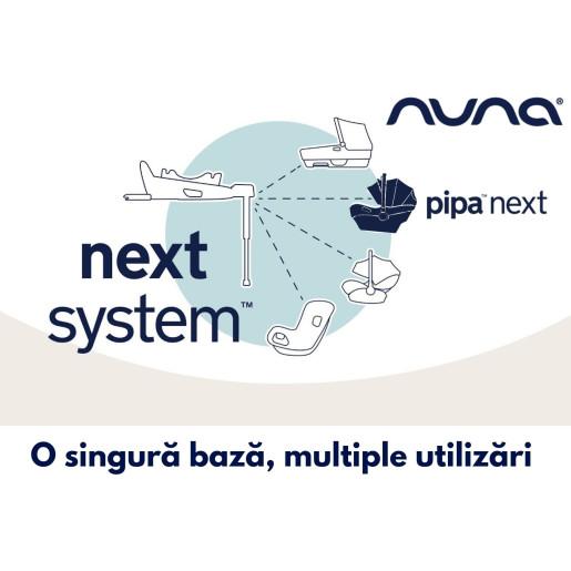 Nuna - Scoica auto i-Size Pipa Next Caviar, nastere - 83 cm