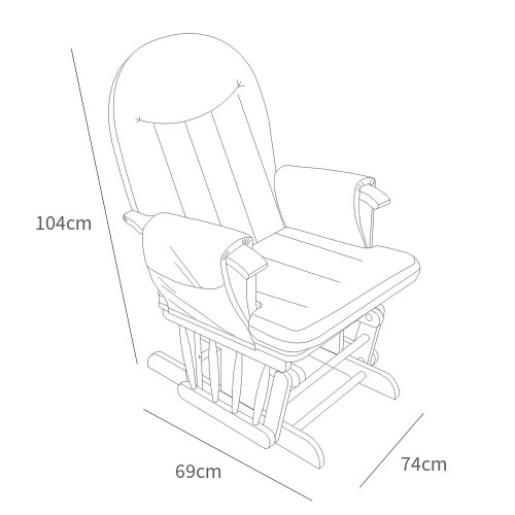 Tutti Bambini - Fotoliu reglabil alaptare, cu suport pentru picioare  Alb