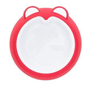 Badabulle – Farfurie anti-alunecare Intense Pink