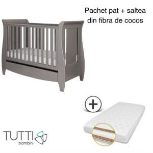 Tutti Bambini – Set patut Katie Gri + salteluta pentru bebelusi