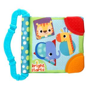 Bright Starts - Jucaria rontaie si invata Teethe & Read Albastru
