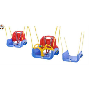 BabyGo - Leagan transformabil 3 In 1 - Blue Red