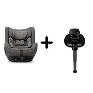 Nuna - Set Scaun auto rotativ i-Size TODL next Granite, 40-105 cm + Baza isofix BASE next i-Size pentru TODL next
