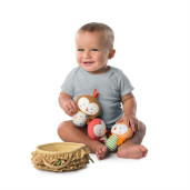 Bright Starts - Set 3 jucarioare de plus Baby Bird Put & Take