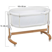 BabyGo - Patut co-sleeper 2 in 1 Amila, Creme