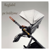 Joie - Carucior multifunctional, reglabil pe inaltime Aeria Signature, Eclipse