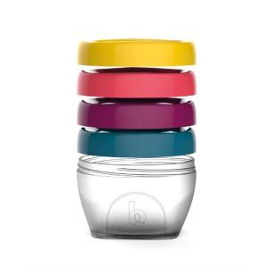 Babymoov - Set 4 recipiente pentru pastrarea hranei, 120 ml