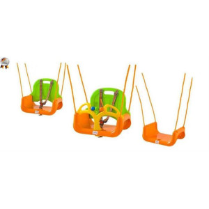 BabyGo - Leagan transformabil 3 In 1 - Green Orange