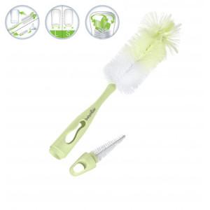 Babymoov - Perie 2 In 1 pentru curatarea biberoanelor verde