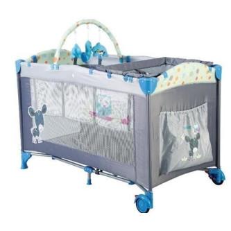 BabyGo - Patut pliant  Sleepwell Blue