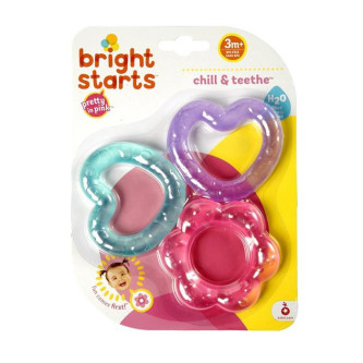 Bright Starts - Set jucarii pentru dentitie Chill & Teethe Pink
