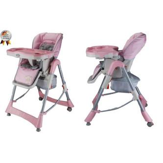 BabyGo – Scaun de masa Tower Maxi Pink