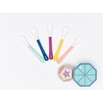 Babymoov– Set de 5 lingurite multicolore