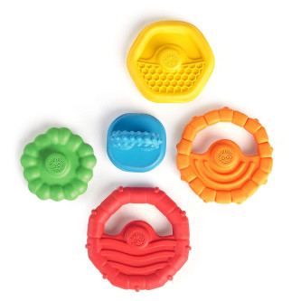 Baby Einstein - Jucarie multisenzoriala si de dentitie Stacking Teether