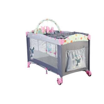 BabyGo - Patut Pliant Sleepwell Pink