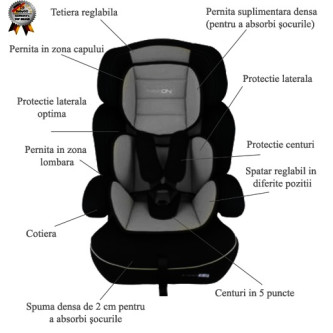 BabyGo - Scaun Auto Freemove Grey