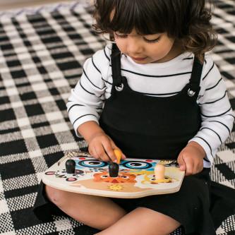 Baby Einstein - Jucarie de lemn Hape Friendly Safari Faces™ Puzzle