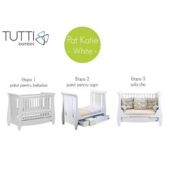 Tutti Bambini - Set mobilier Katie Alb format din 2 piese: patut si comoda