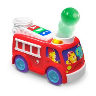 Bright Starts - Jucarie muzicala cu lumini Roll & Pop Fire Truck