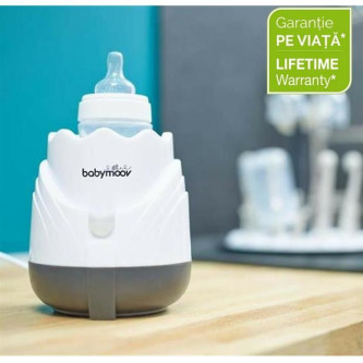 Babymoov – Incalzitor pentru biberoane (recipiente) Warmer Tulip Cream
